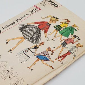 Simplicity Doll Patterns Vintage Circa 1963